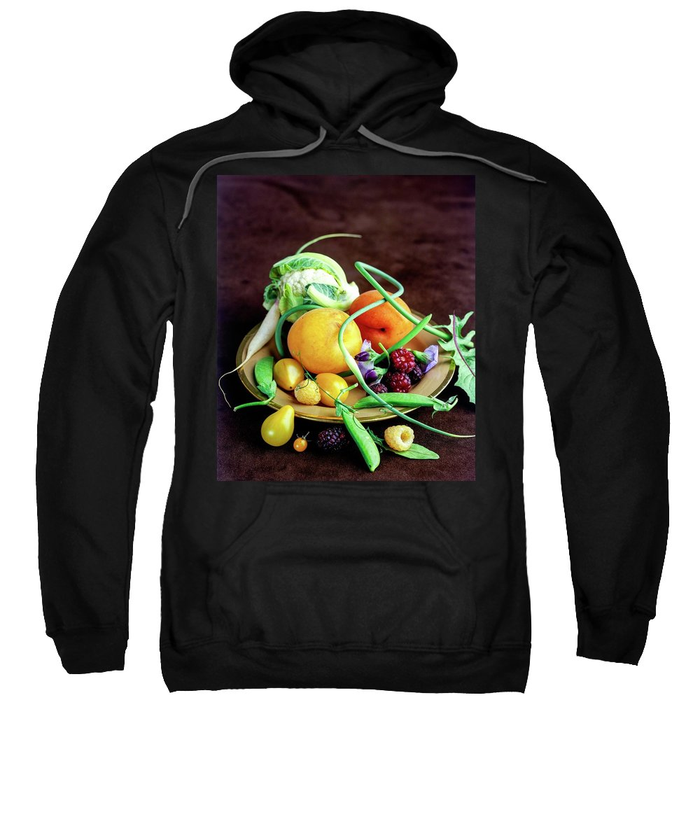Fruits Sweatshirt featuring the photograph Seasonal Fruit And Vegetables by Romulo Yanes