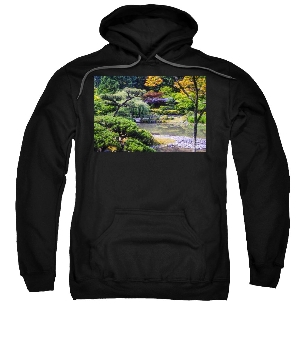 Japanese Tea Garden Sweatshirt featuring the photograph Seattle Tea Garden by Bob Phillips