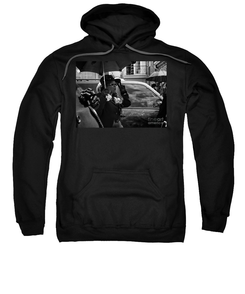 Peace Sweatshirt featuring the photograph Second Line Peace by Mary Smyth
