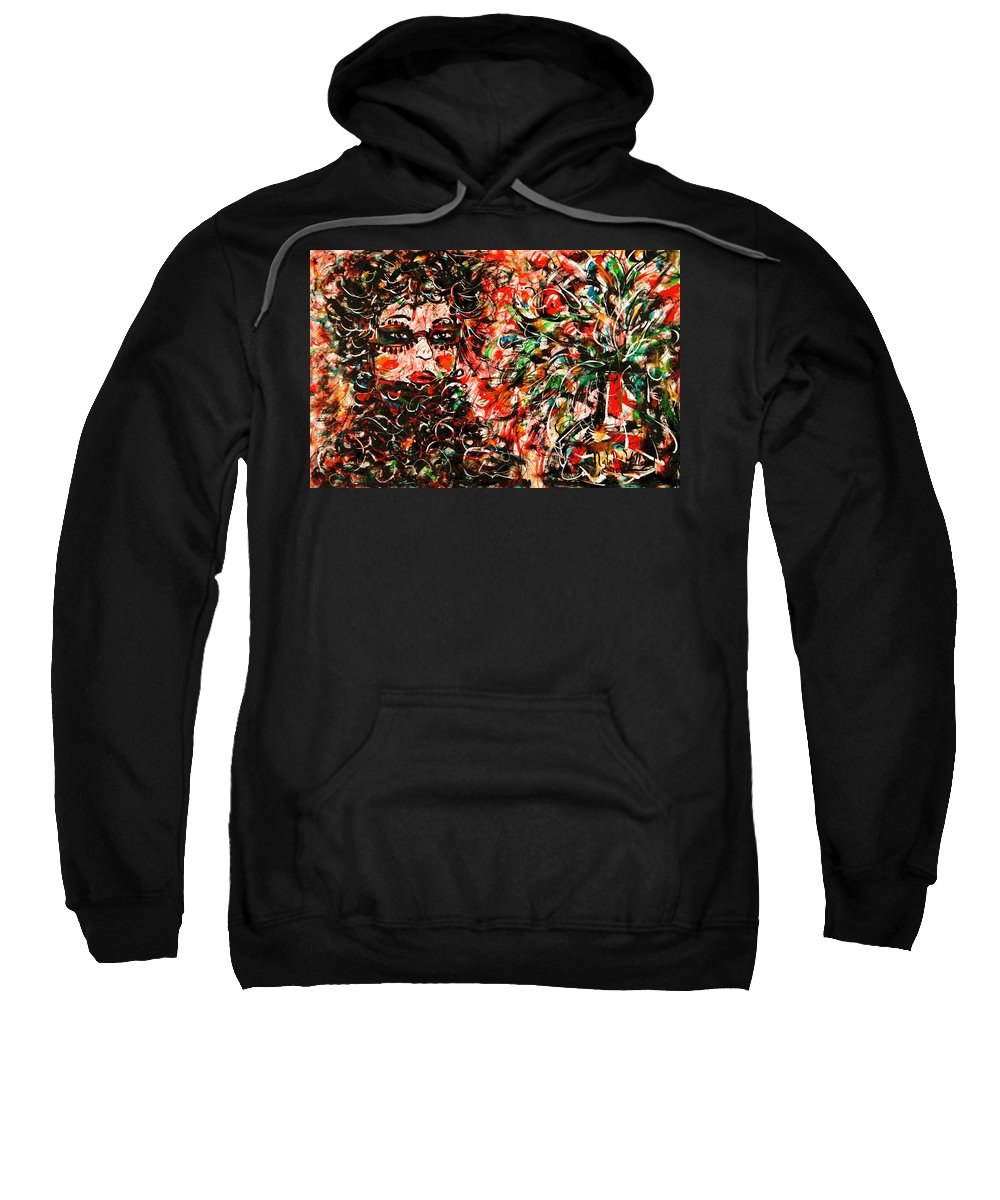 Free Expressionism Sweatshirt featuring the painting Secret Agent by Natalie Holland