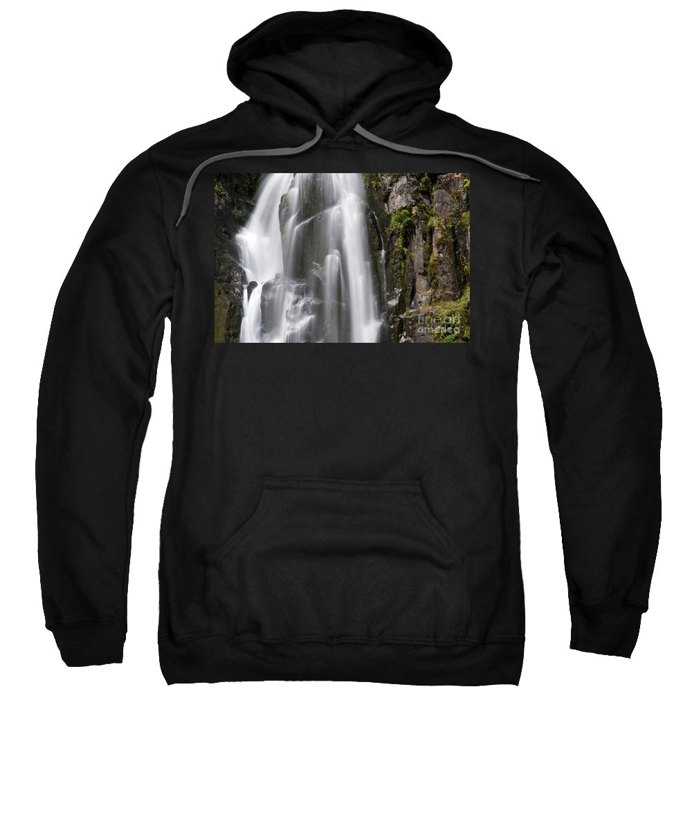 Kentucky Falls Trail Trails Smith River Sluslaw National Forest Oregon Water Waterfall Lower Stream Streams Waterfalls Park Parks Rivers Landscape Landscapes Waterscape Waterscapes Nature Fall Colors Autumn Foliage Sweatshirt featuring the photograph Section Of The Falls by Bob Phillips