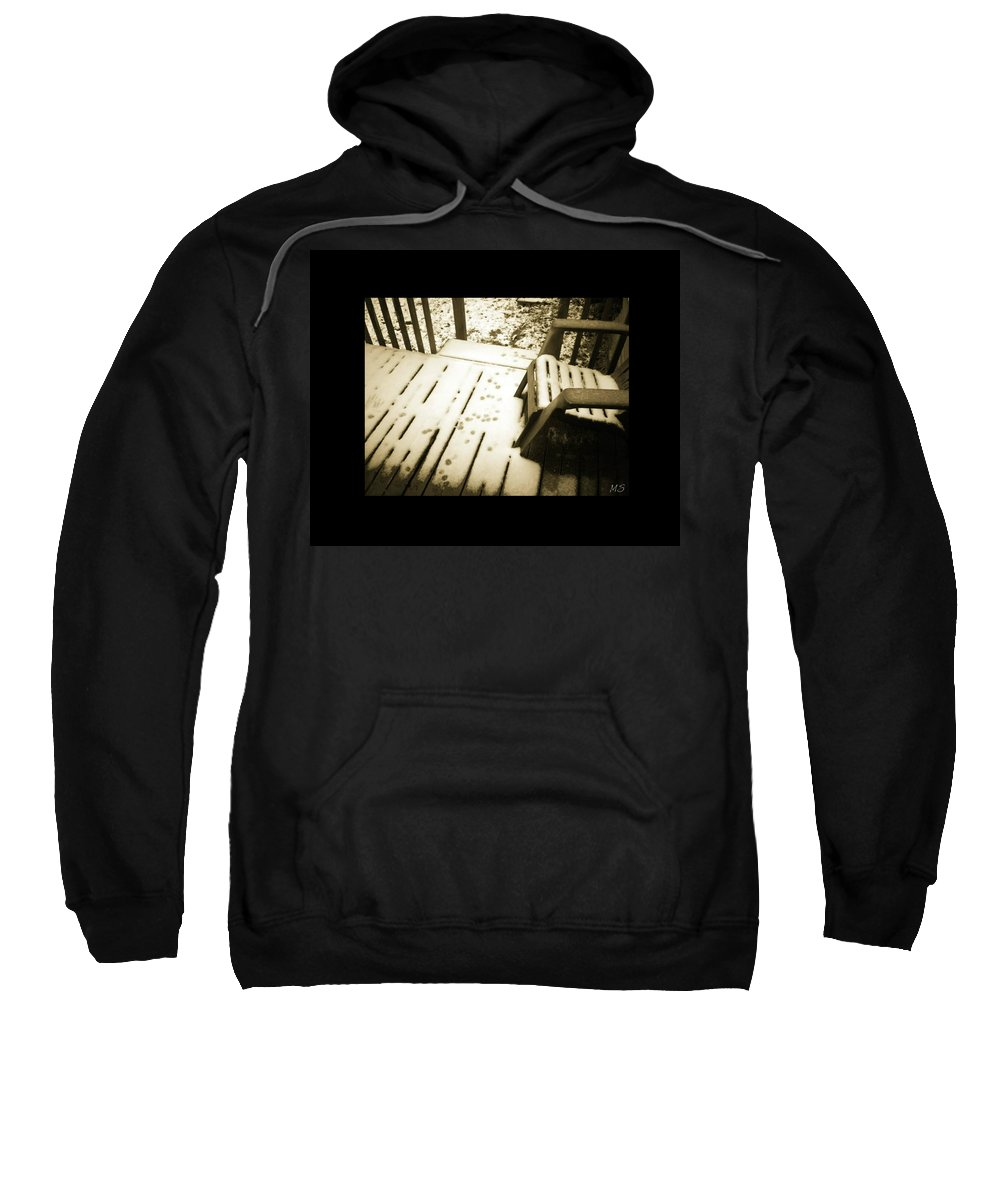 Sepia Sweatshirt featuring the photograph Sepia - Nature Paws In The Snow by Absinthe Art By Michelle LeAnn Scott
