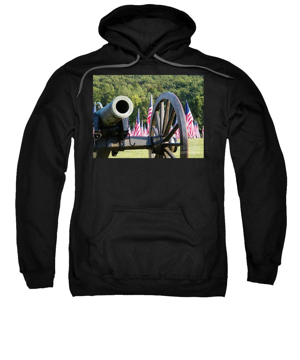 Kennesaw Mountain Battlefield Sweatshirt featuring the photograph September 11th Tribute by Cheryl Hardt Art