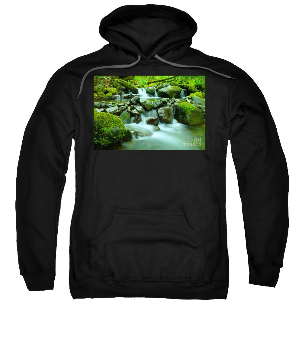 Water Sweatshirt featuring the photograph September Stream by Jeff Swan