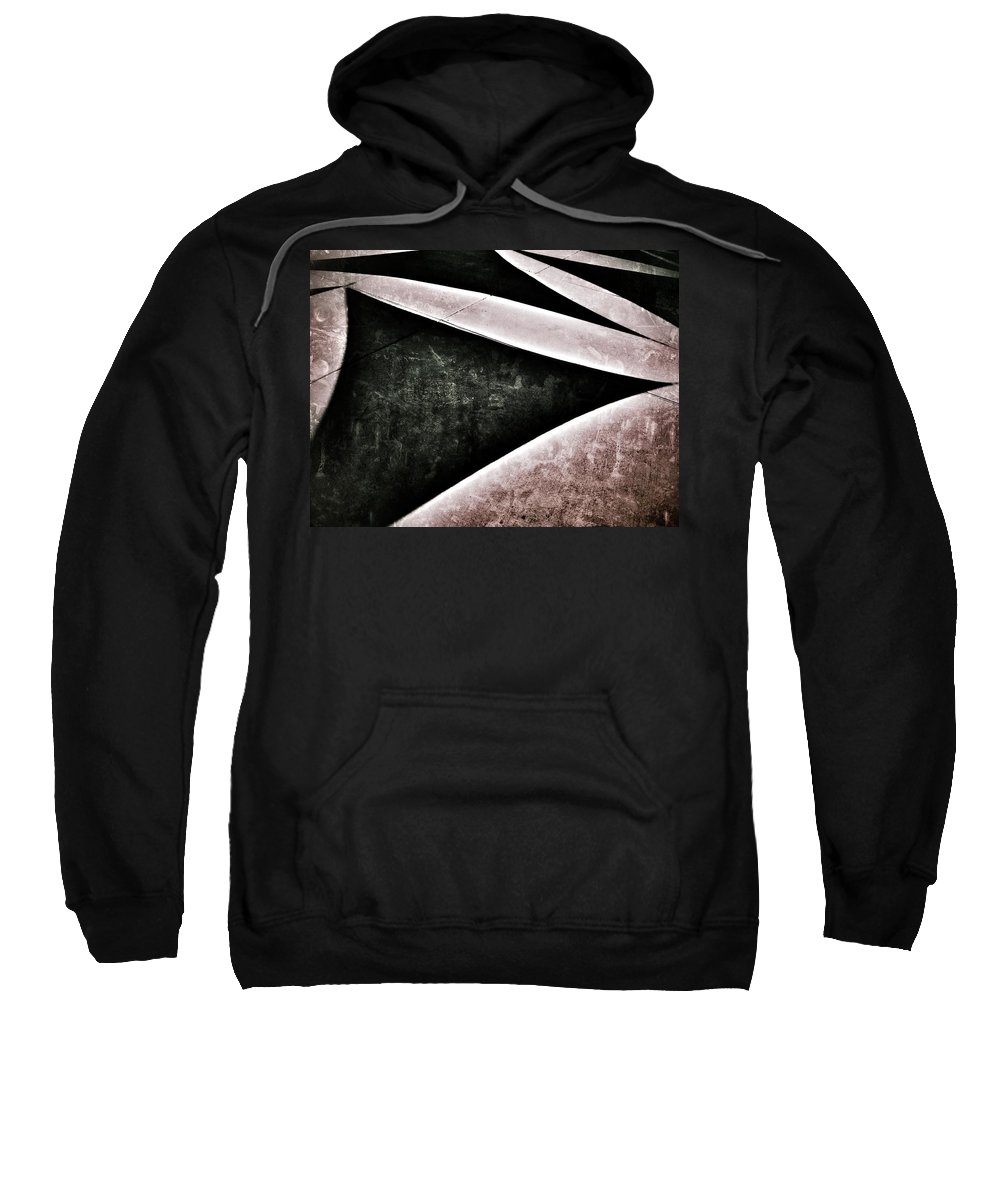 Abstract Sweatshirt featuring the photograph Shadow Geometry by Mark David Gerson