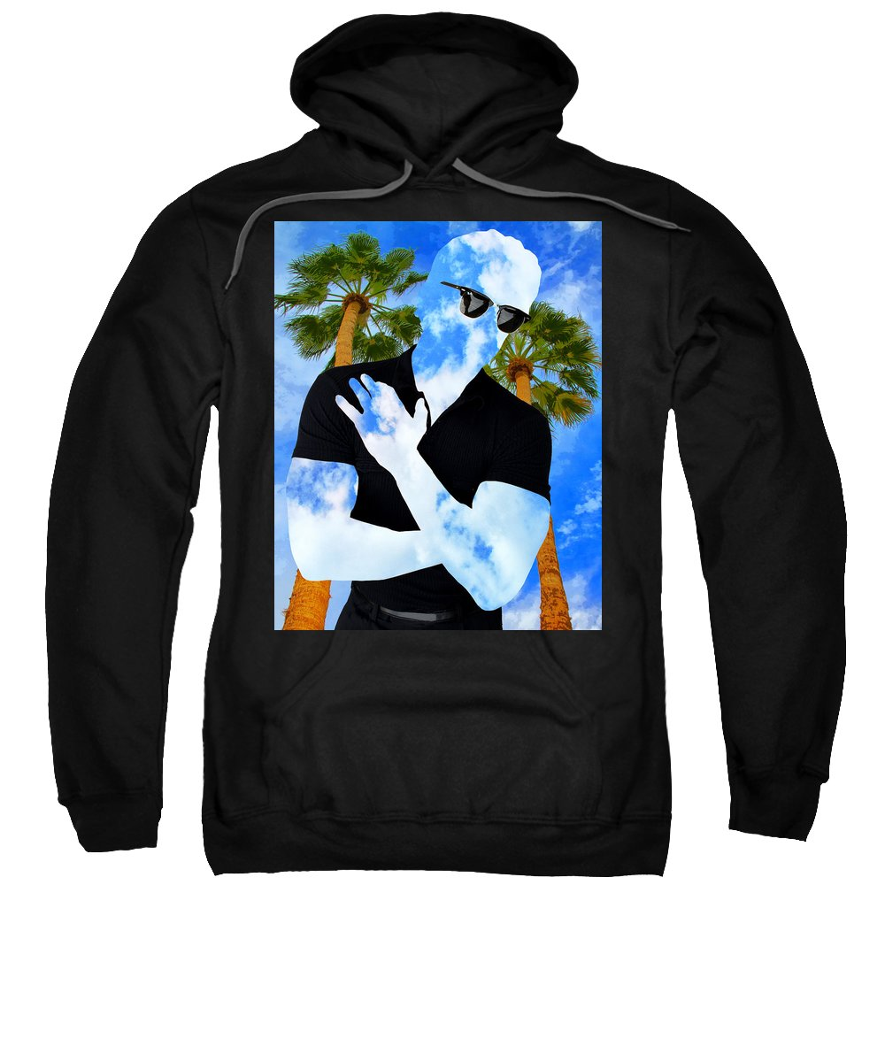Man Sweatshirt featuring the photograph Shadow Man Palm Springs by William Dey
