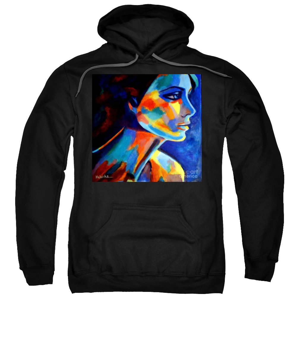 Contemporary Art Sweatshirt featuring the painting Shadows And Silence by Helena Wierzbicki