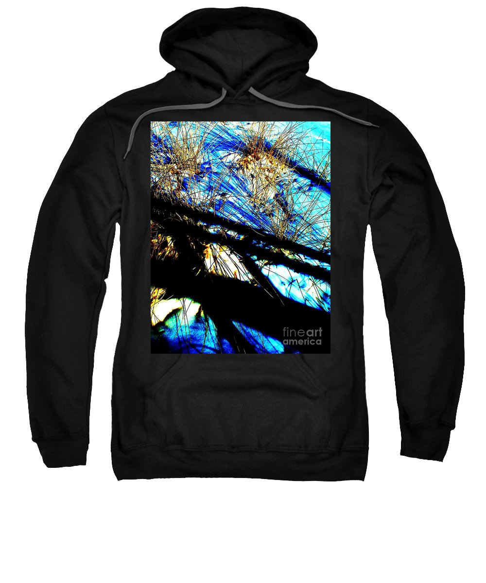 Dune Sweatshirt featuring the photograph Shadowy Snowy Dune by Eric Schiabor