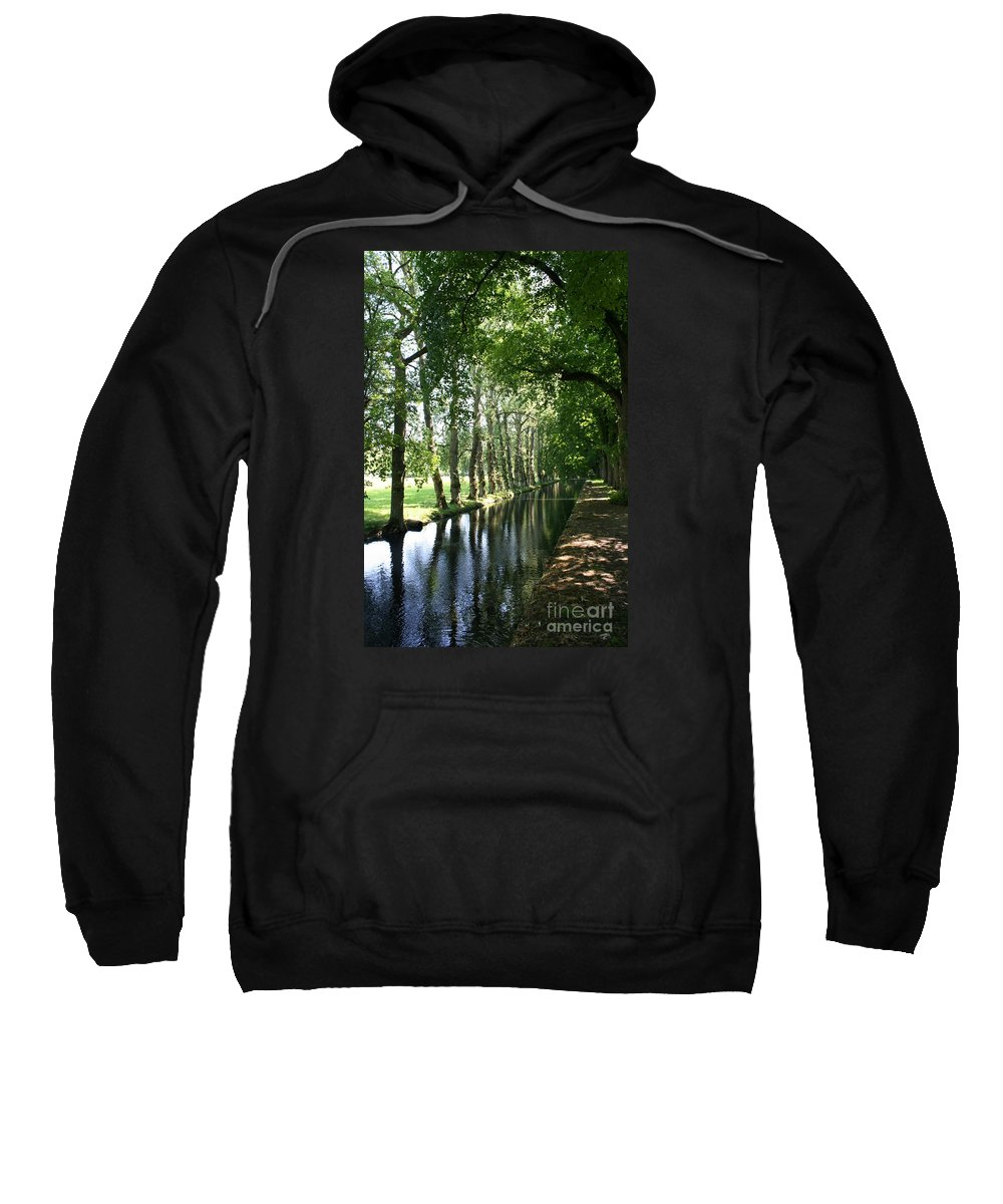 Parkway Sweatshirt featuring the photograph Shady Creek by Christiane Schulze Art And Photography