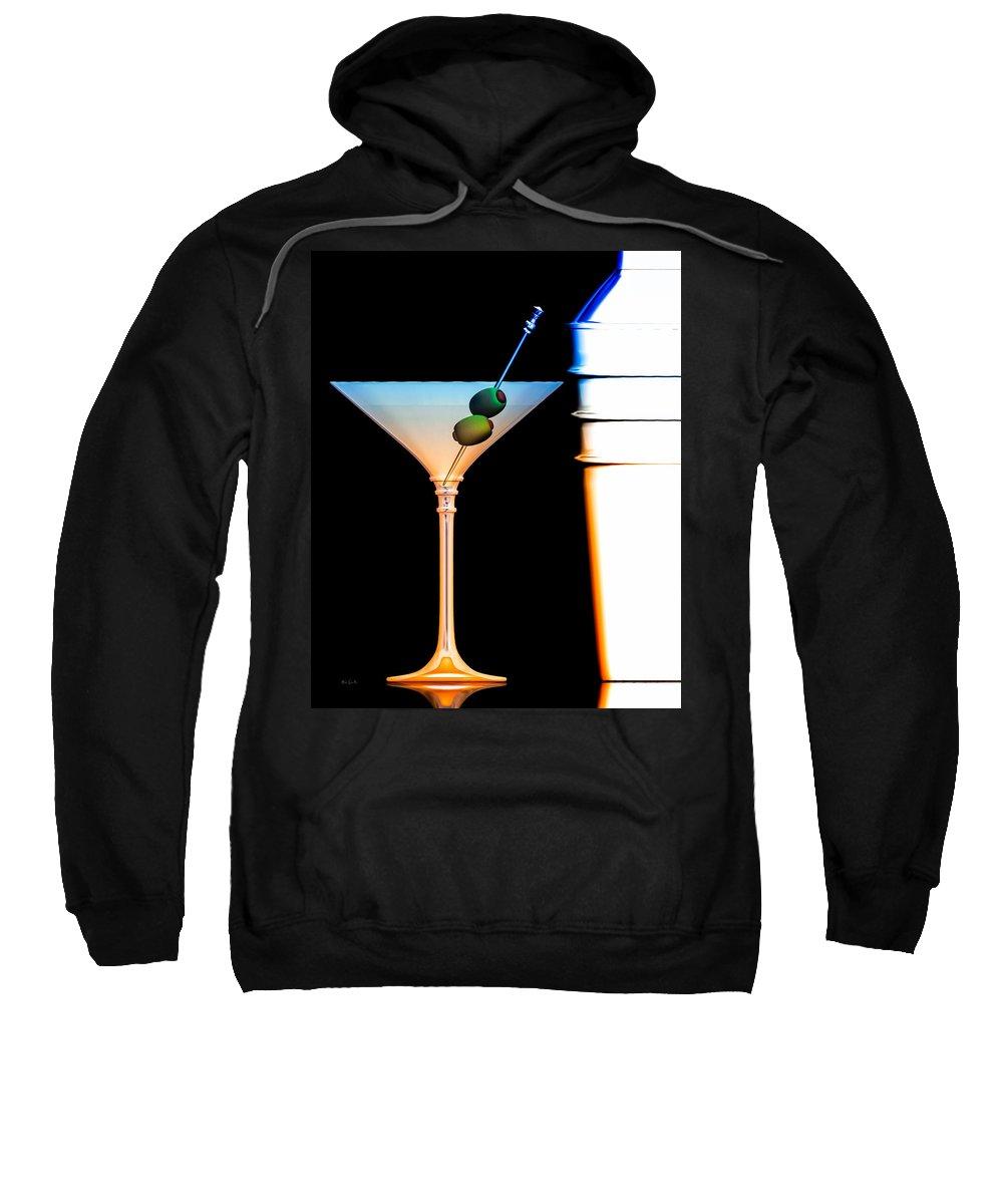 James Bond Sweatshirt featuring the digital art Shaken Not Stirred by Bob Orsillo