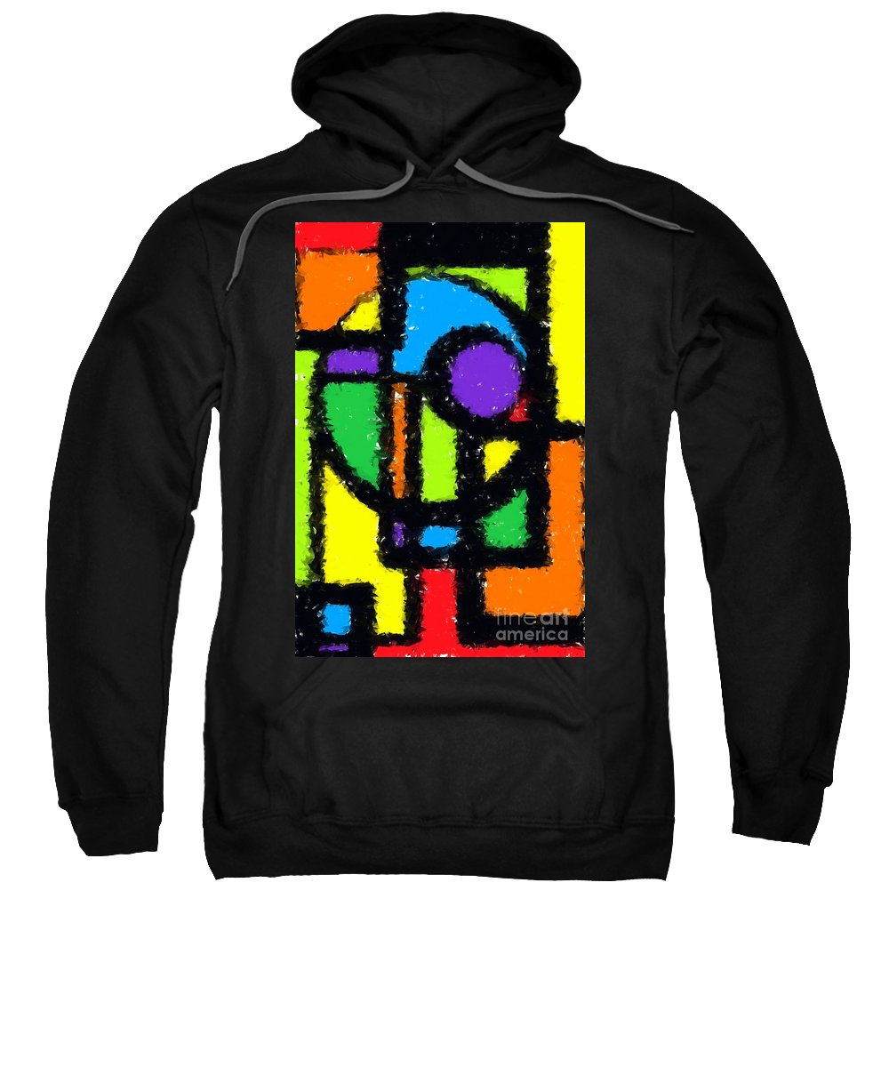 Abstract Sweatshirt featuring the digital art Shapes 11 by Chris Butler