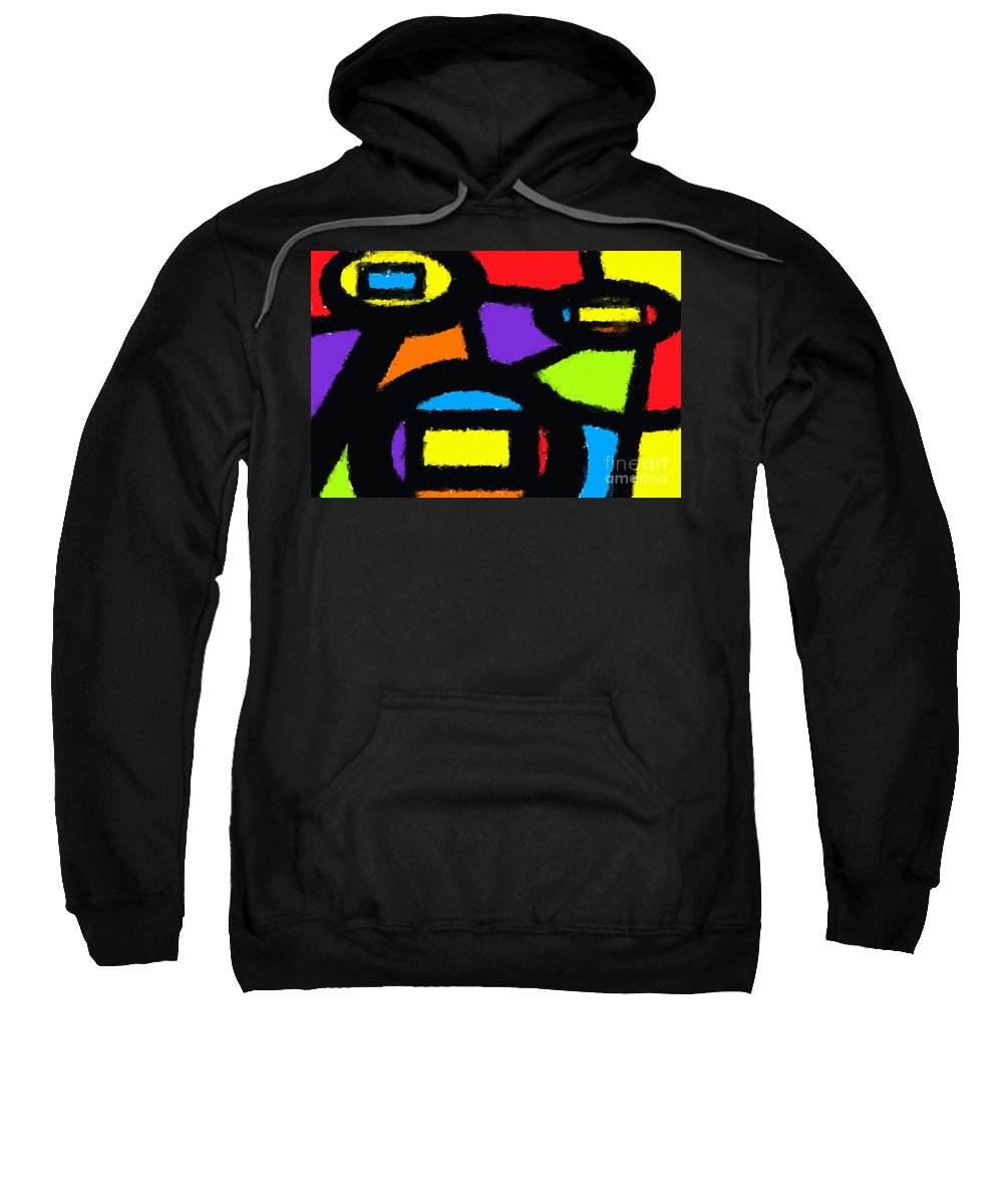 Abstract Sweatshirt featuring the digital art Shapes 13 by Chris Butler