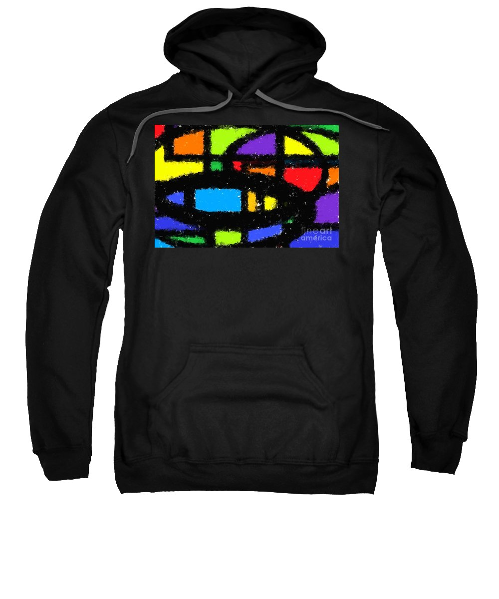 Abstract Sweatshirt featuring the digital art Shapes 18 by Chris Butler