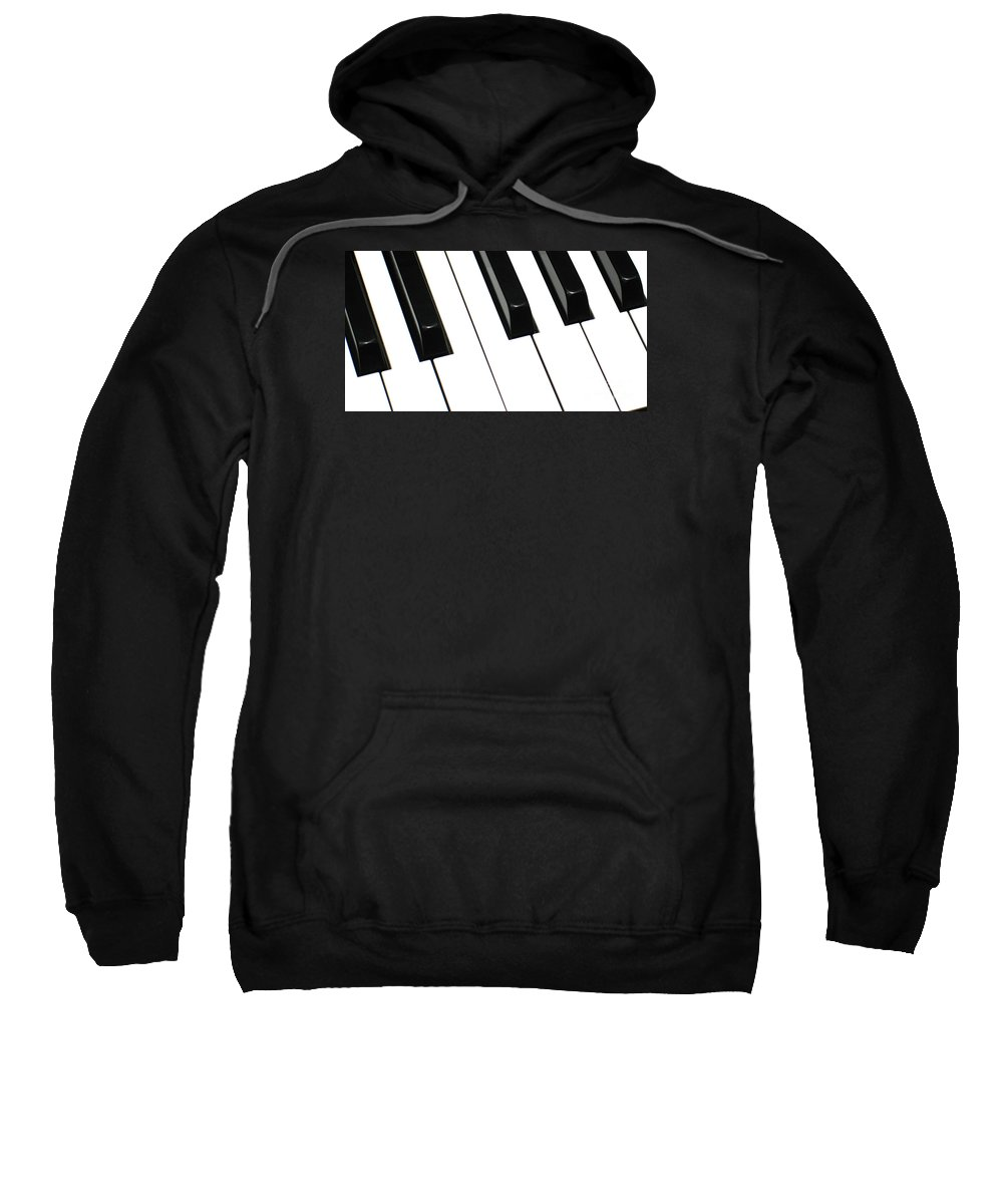 Piano Sweatshirt featuring the photograph Sharps And Flats by Ann Horn
