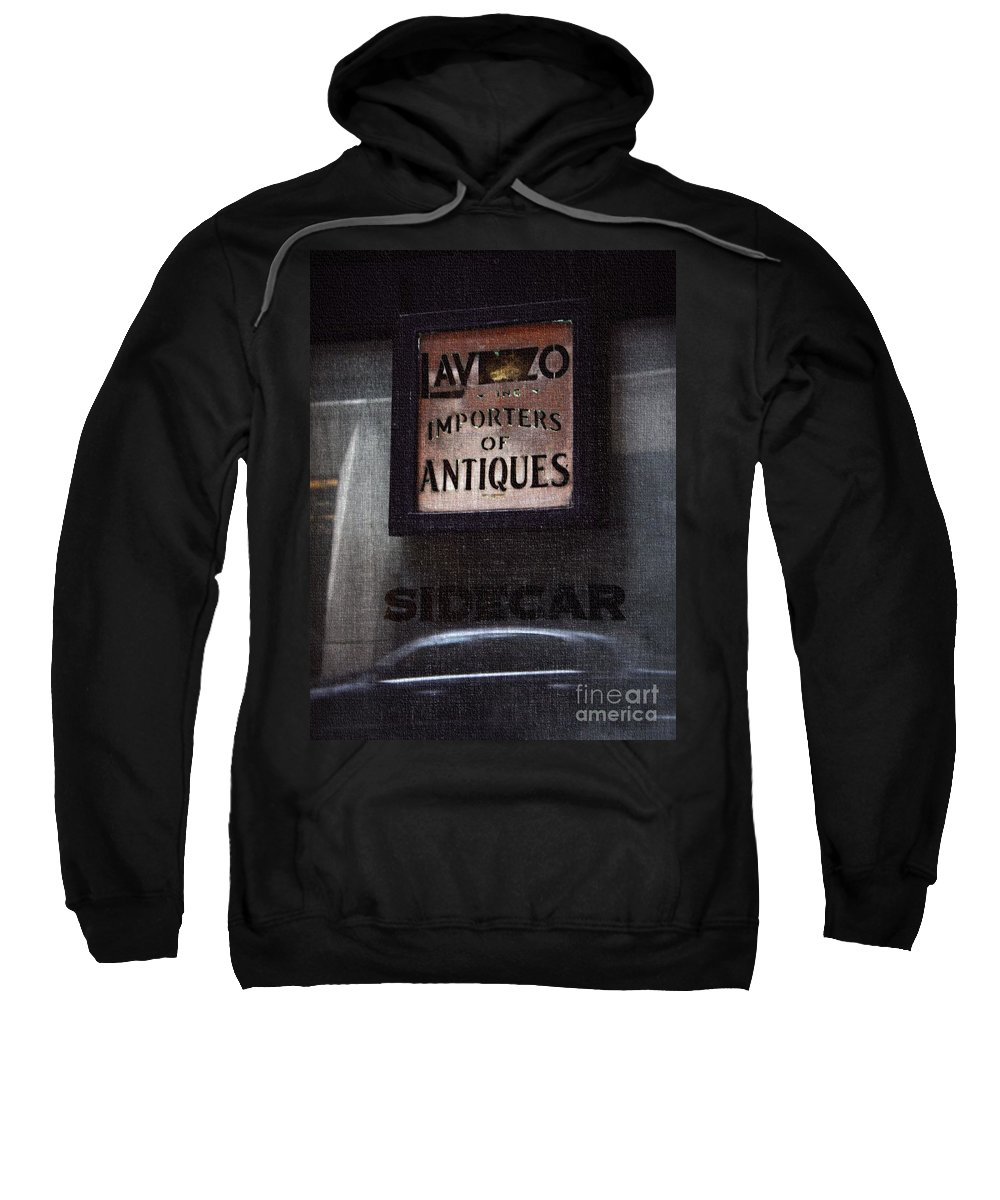 Sign Sweatshirt featuring the photograph Sidecar by Lilliana Mendez