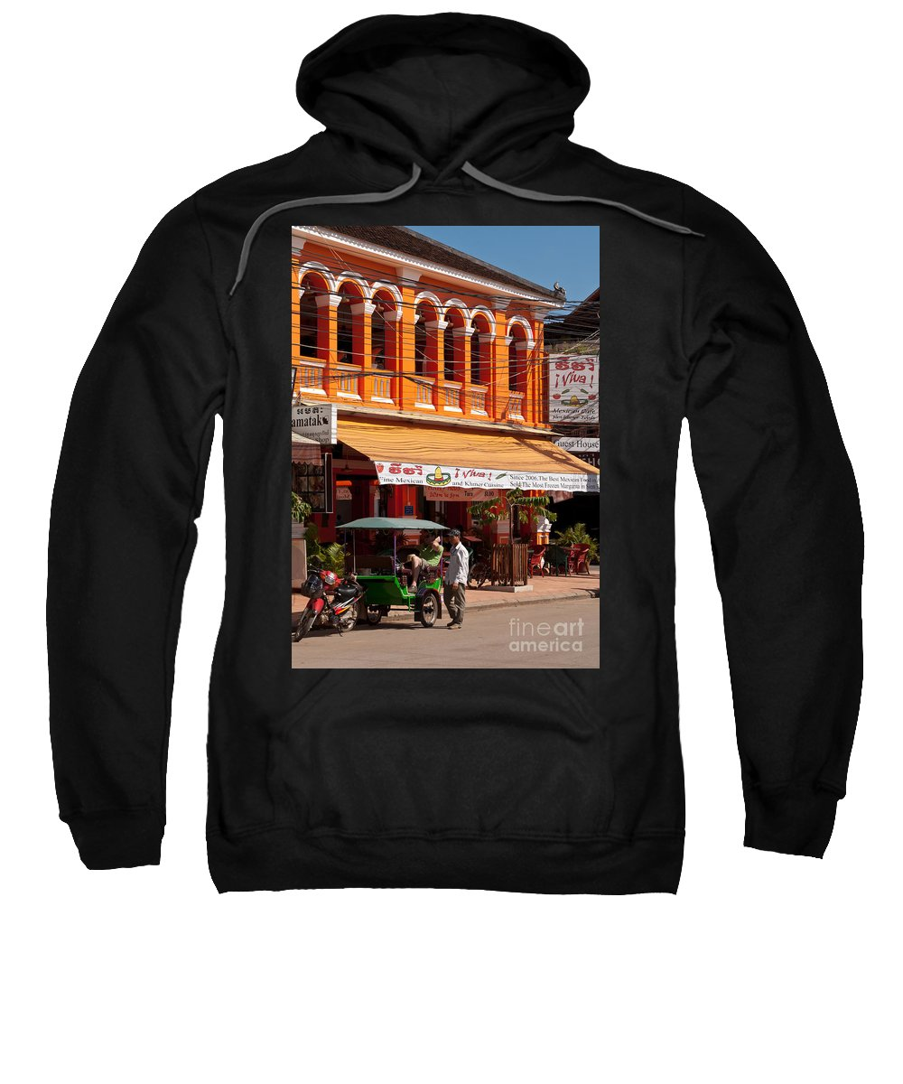 Cambodia Sweatshirt featuring the photograph Siem Reap 01 by Rick Piper Photography