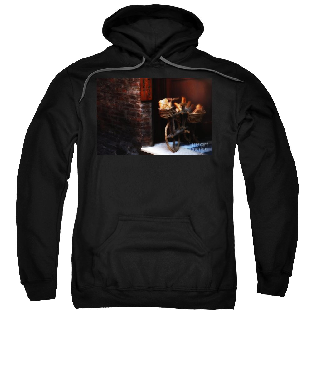 Siena Sweatshirt featuring the photograph Siena Bakery by Mike Nellums