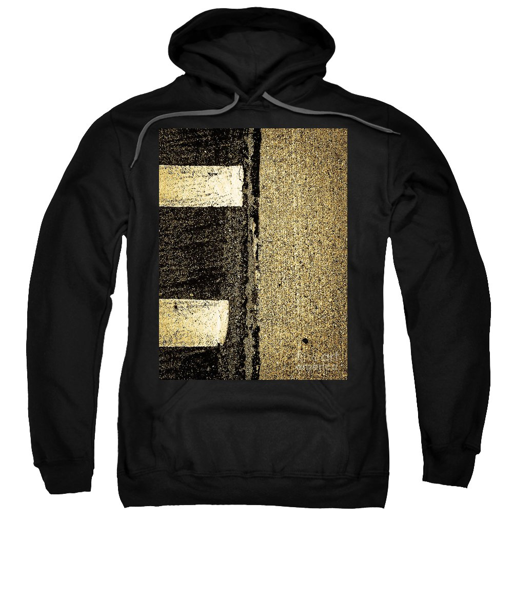 Abstract Sweatshirt featuring the photograph Silent Confrontations by Fei A