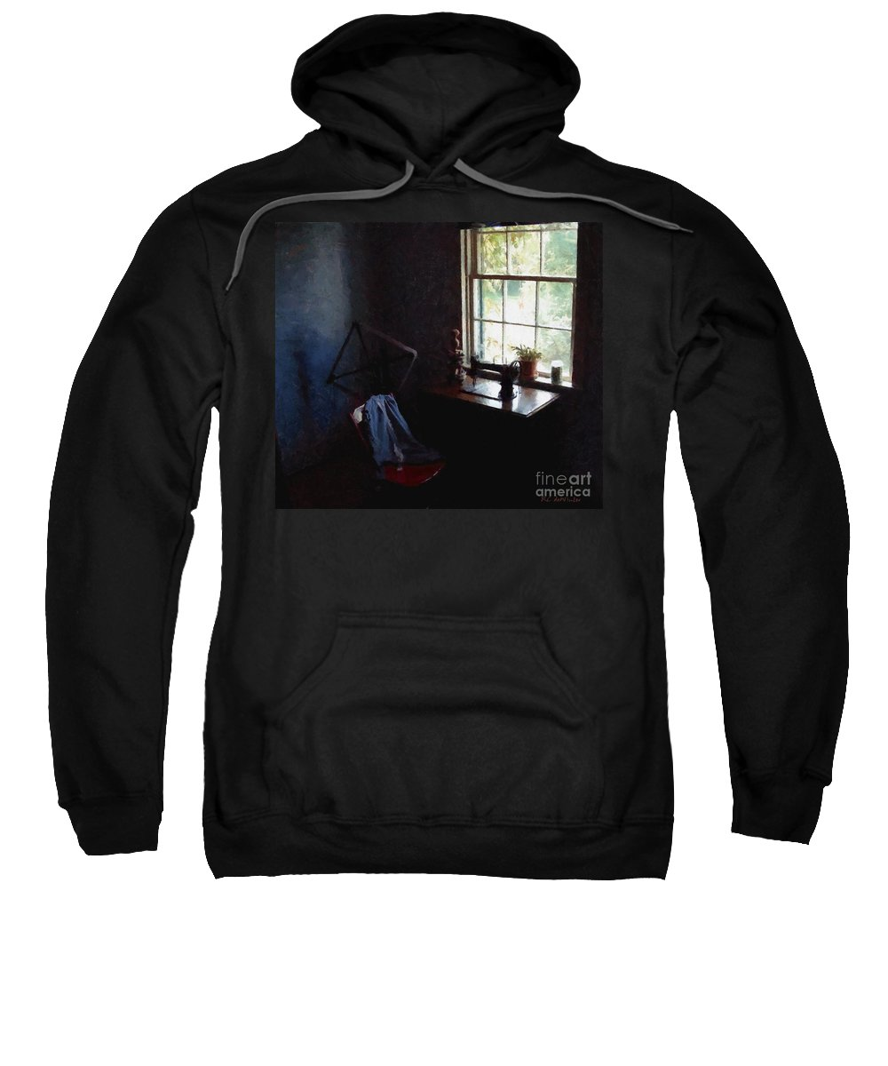 Sewing Room Sweatshirt featuring the painting Silent Sewing Room by RC DeWinter