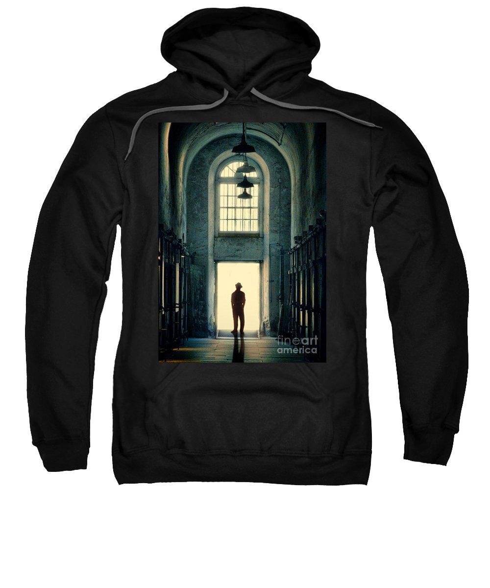 Man Sweatshirt featuring the photograph Silhouette In Doorway by Jill Battaglia