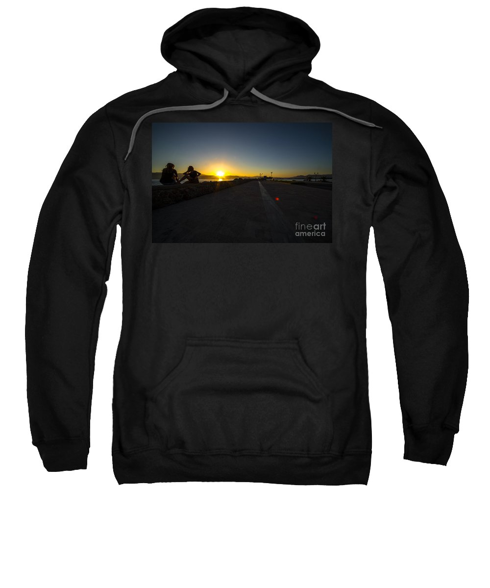 Sunset Sweatshirt featuring the photograph Silhouette Sunset by Rob Hawkins