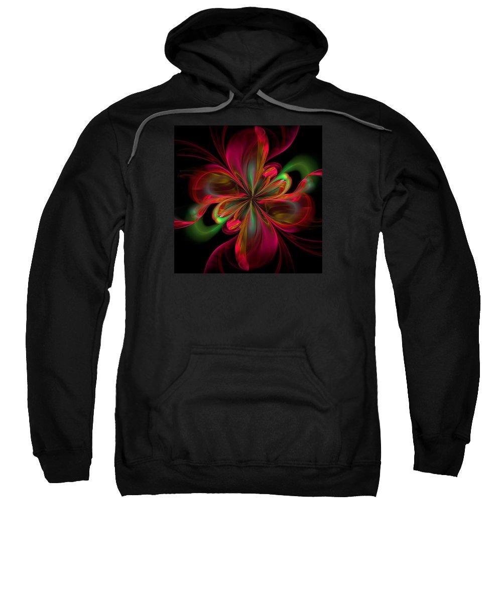 Abstract Sweatshirt featuring the digital art Silk Butterfly Abstract by Georgiana Romanovna