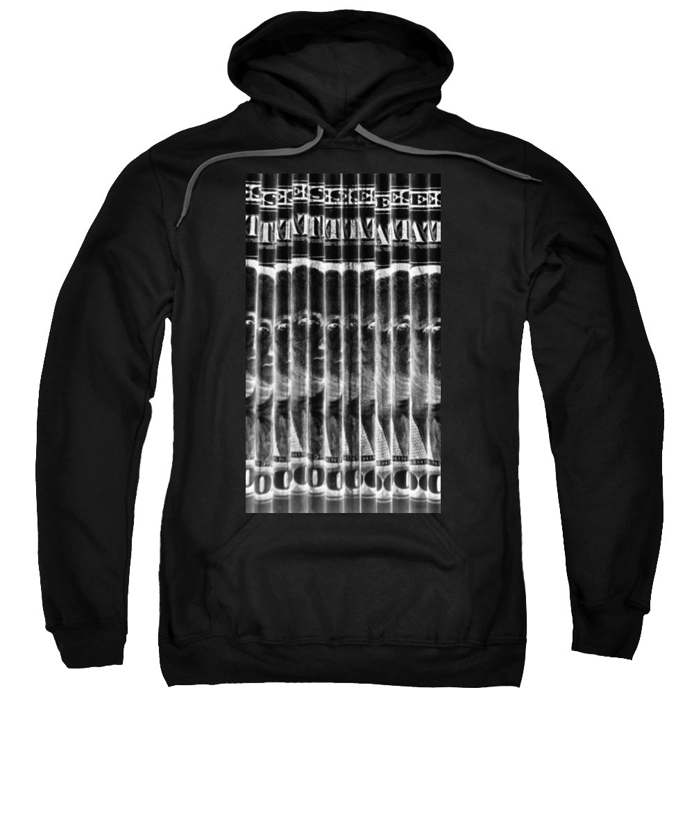Money Sweatshirt featuring the photograph Singles In Negative Black by Rob Hans
