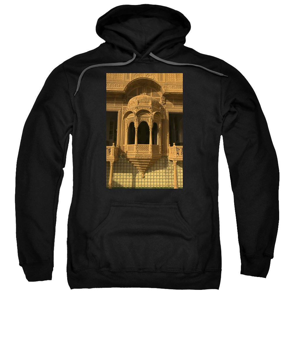 Carvings Sweatshirt featuring the photograph Skn 1320 Carving Splendor by Sunil Kapadia