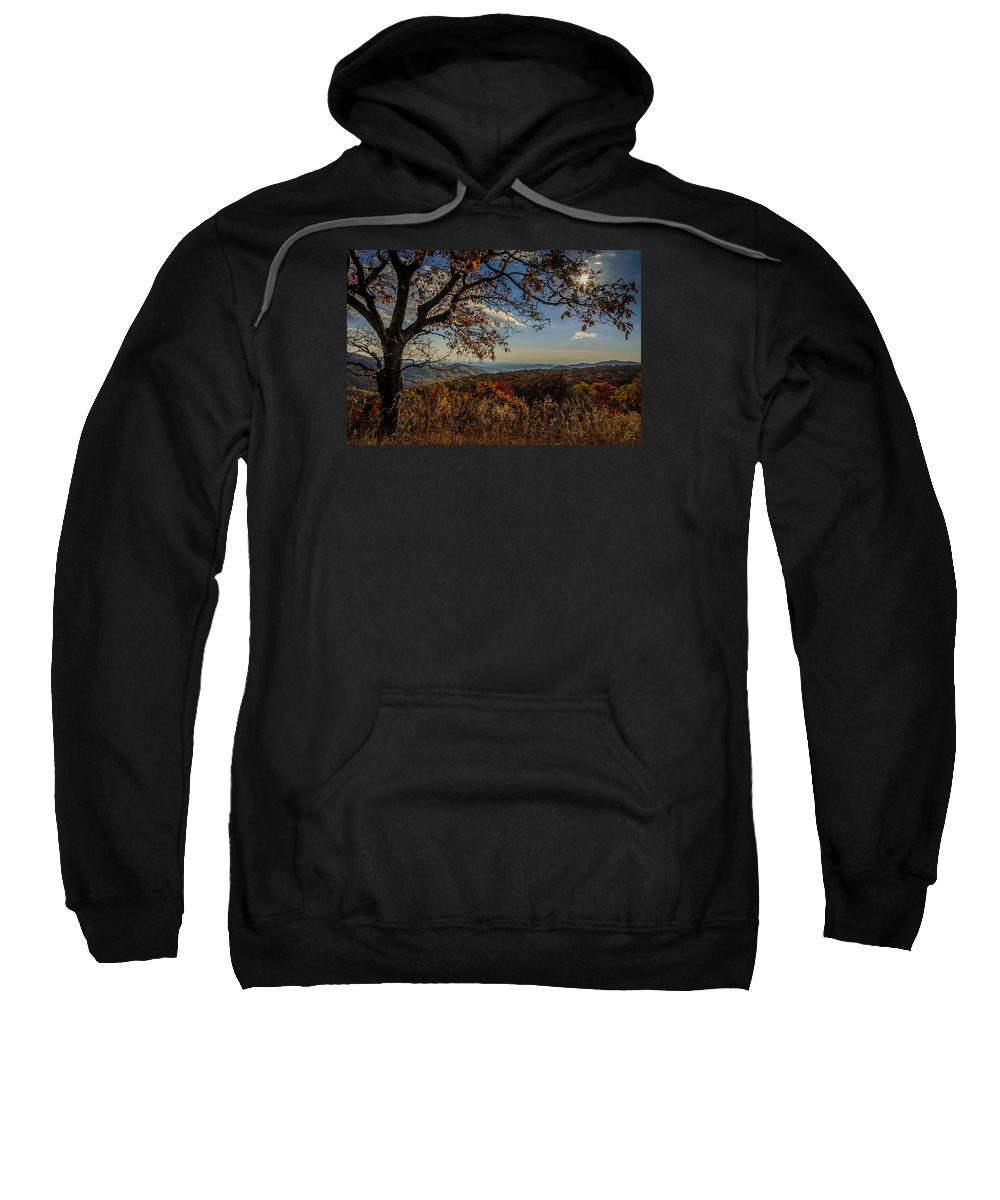 Fall Sweatshirt featuring the photograph Skyline Drive by Pat Scanlon
