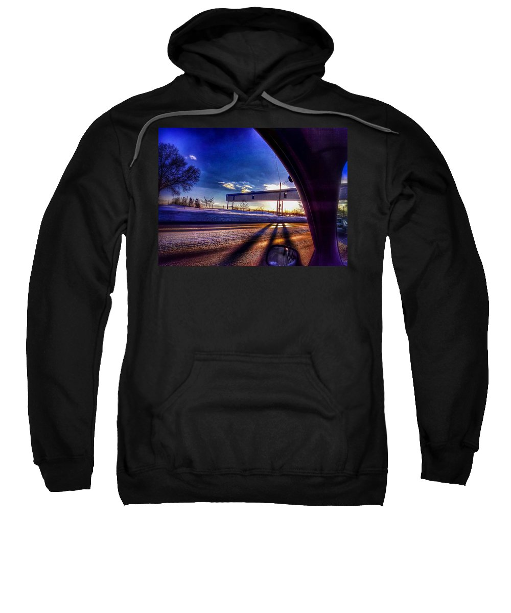 Landscape Sweatshirt featuring the photograph Skywalk To Nowhere by Christopher Foote