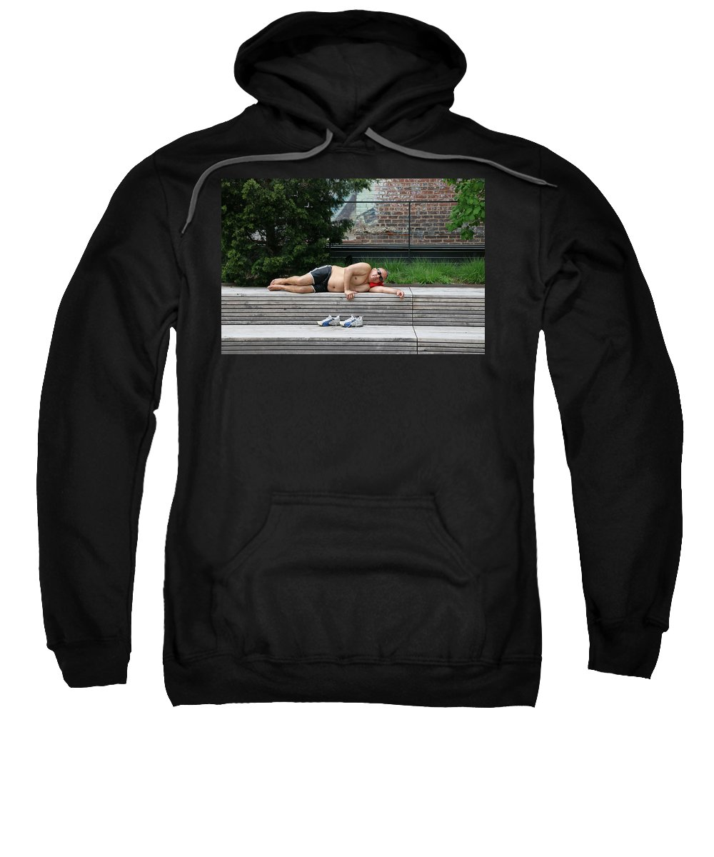New Sweatshirt featuring the photograph Sleeping Beauty On The High Line by Allen Beatty