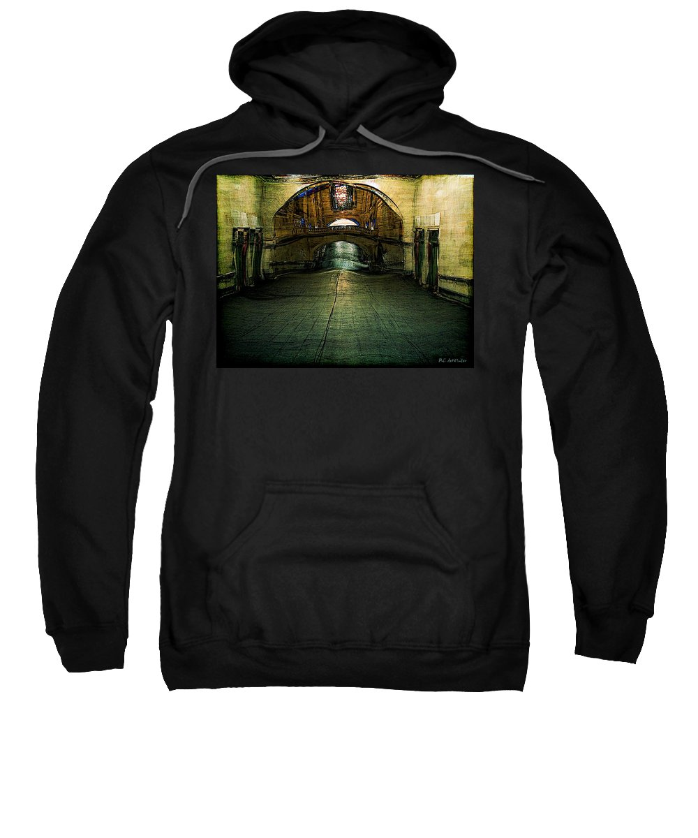 Archway Sweatshirt featuring the painting Slouching Towards Bethlehem by RC DeWinter