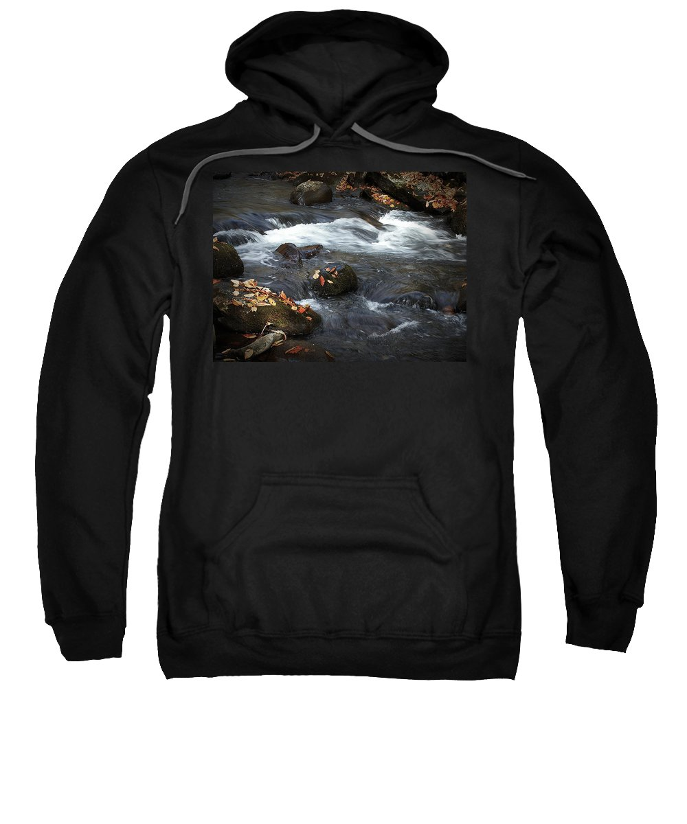 Art Sweatshirt featuring the photograph Smokey Mountain Stream In Autumn No.2 by Randall Nyhof