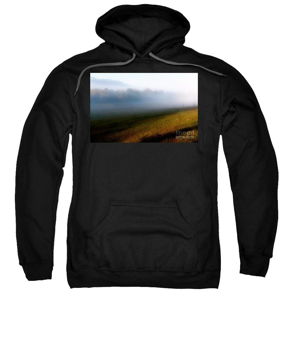 Fog Sweatshirt featuring the photograph Smoky Mountain Blush by Douglas Stucky