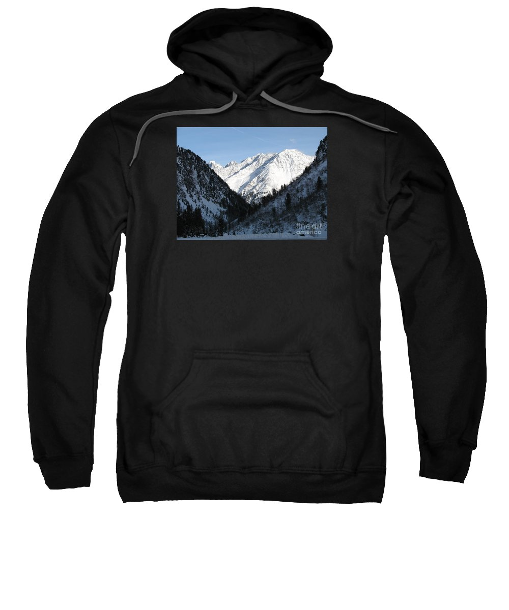 Snow Sweatshirt featuring the photograph Snowwhite Mountain Top by Christiane Schulze Art And Photography