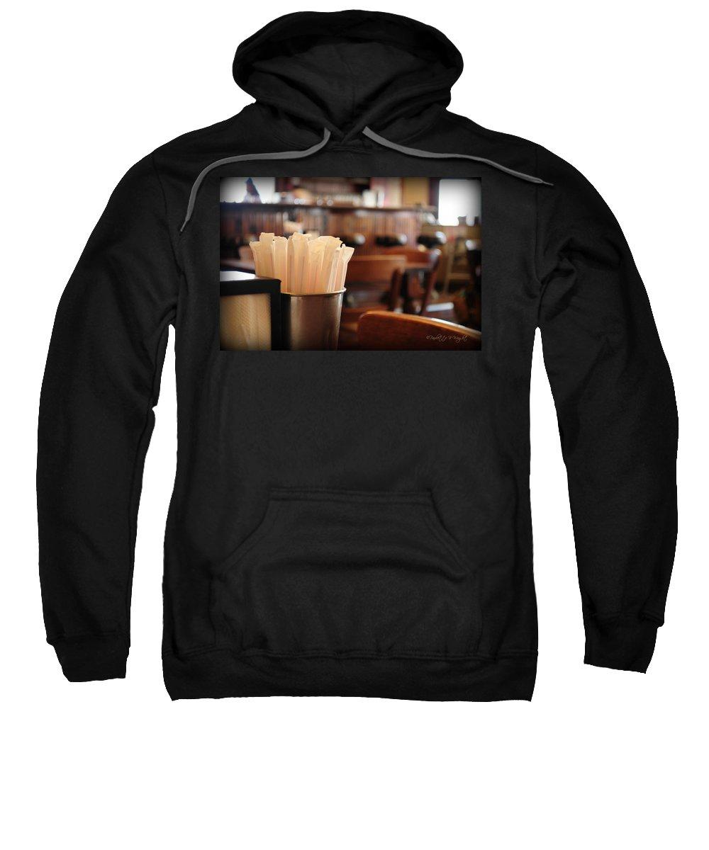 Interior Design Sweatshirt featuring the photograph Soda Straws by Paulette B Wright