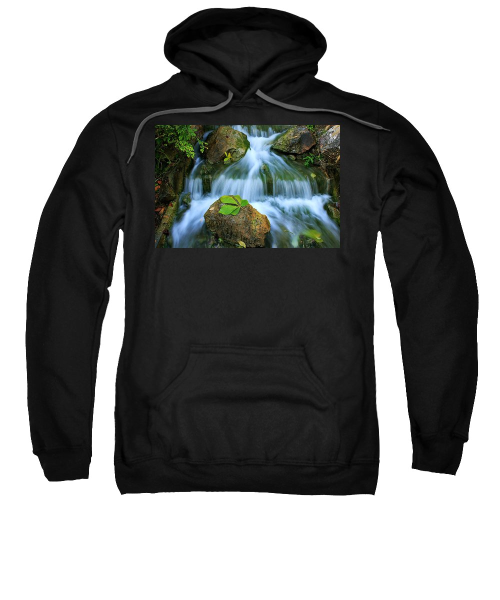Creek Sweatshirt featuring the photograph Soft Flow by John Absher
