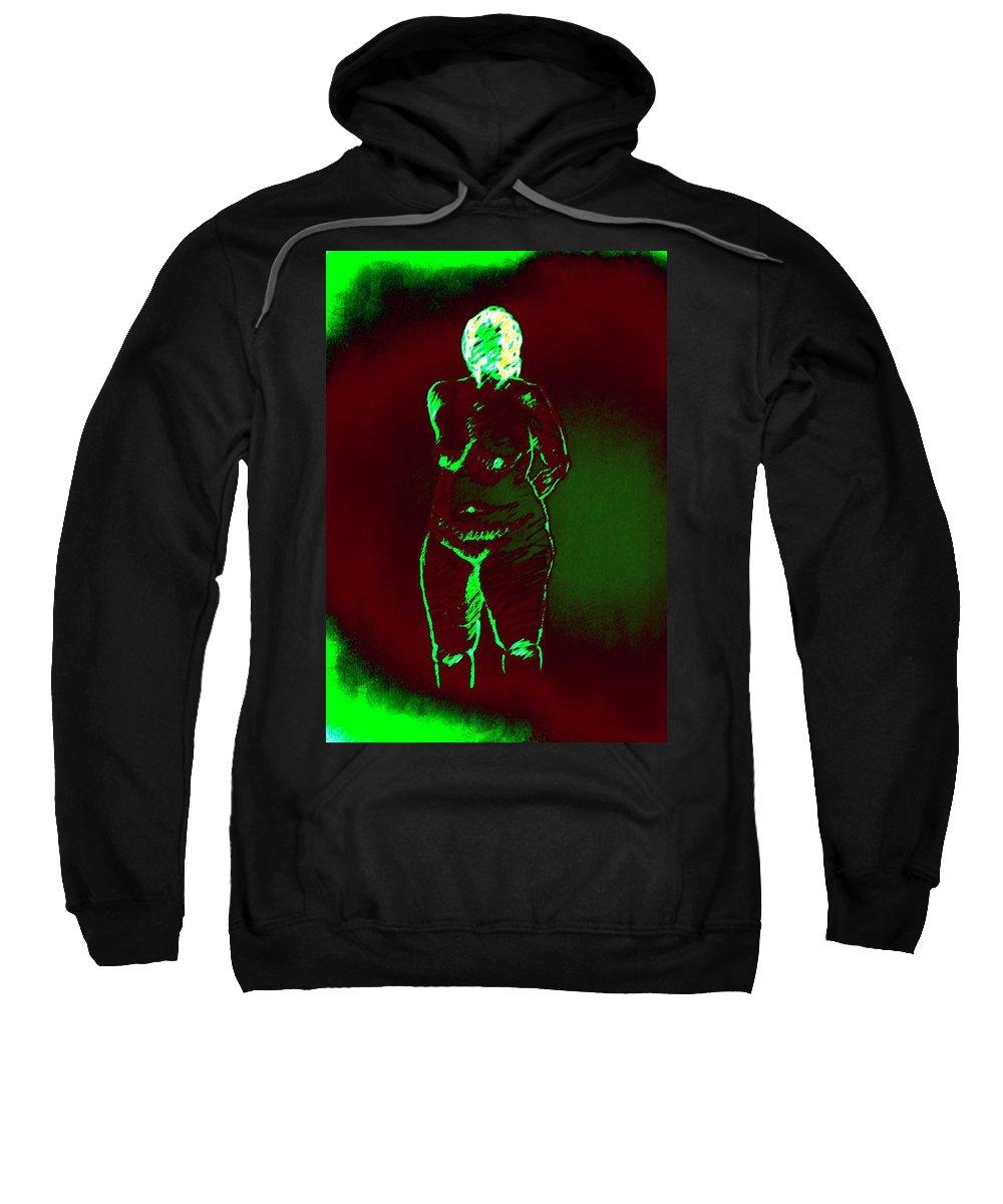 Genio Sweatshirt featuring the mixed media Solid Nude by Genio GgXpress