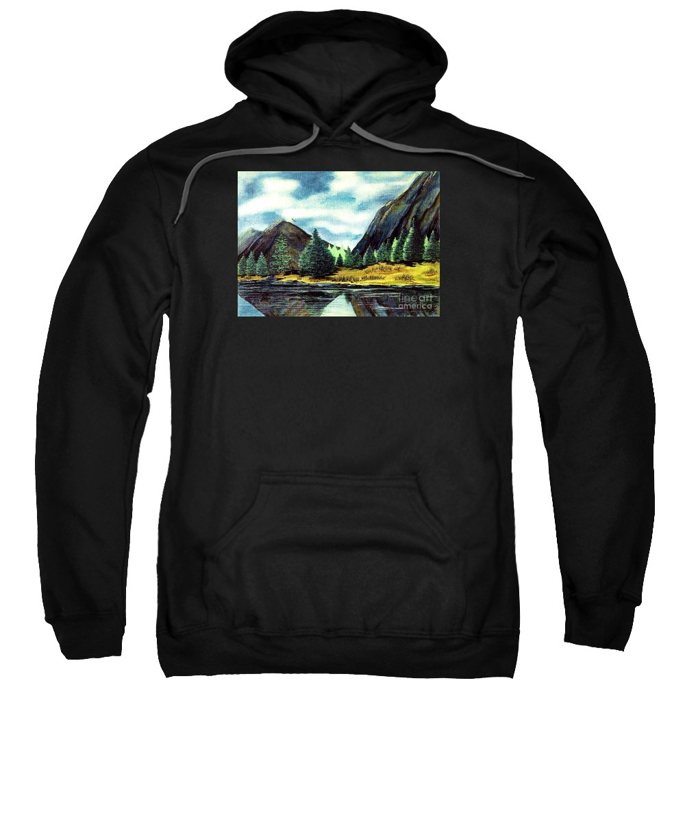 Fine Art Sweatshirt featuring the painting Solitude by Patricia Griffin Brett