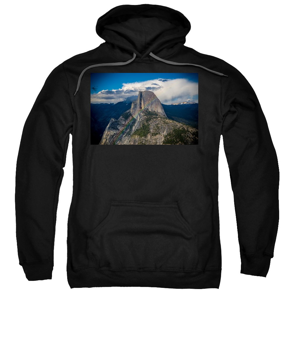 Yosemite Sweatshirt featuring the photograph Somewhere Over Half Dome by Kristopher Schoenleber