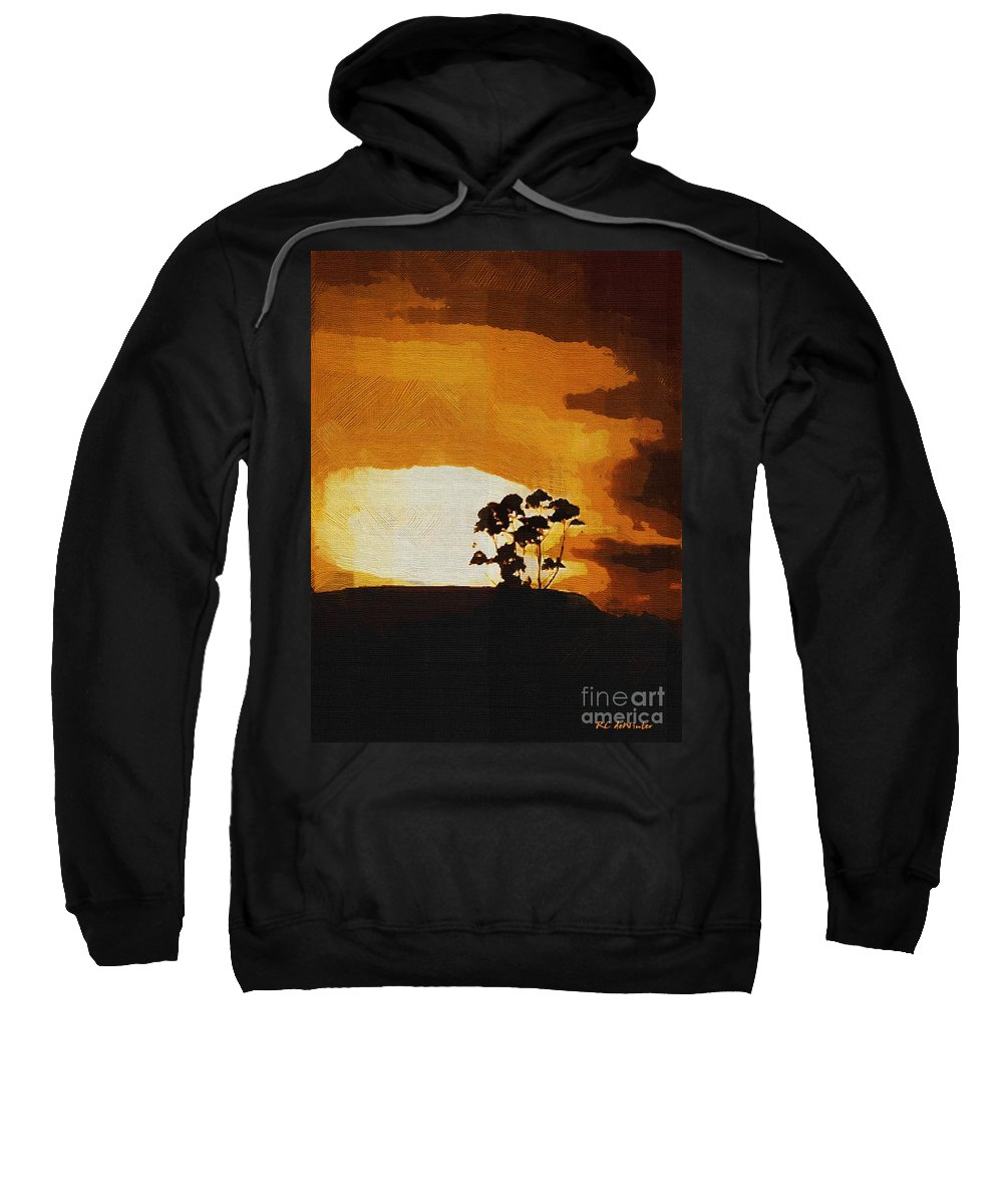 Clouds Sweatshirt featuring the painting South African Sky by RC DeWinter