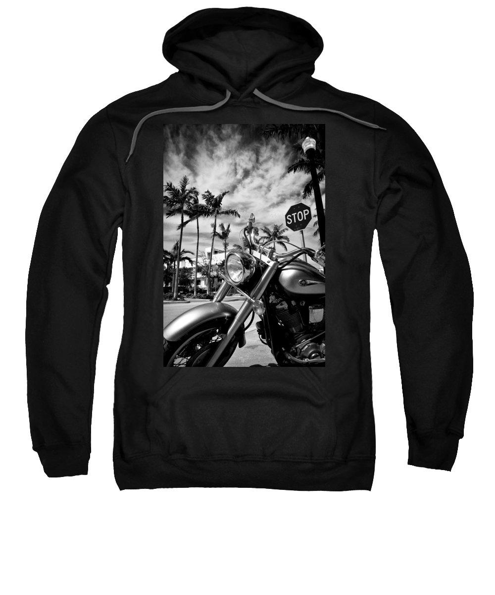 Bike Sweatshirt featuring the photograph South Beach Cruiser by Dave Bowman