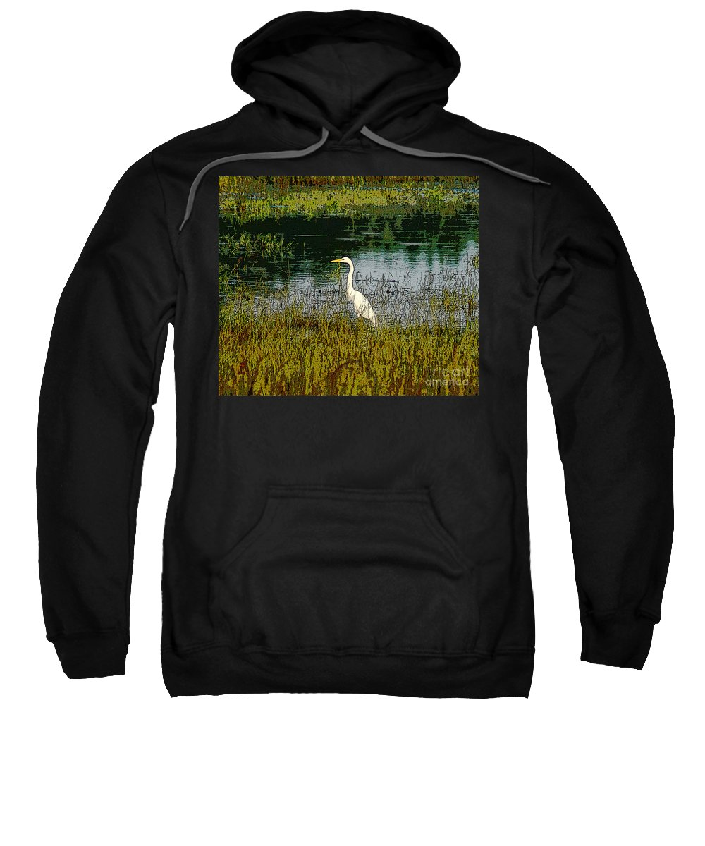 Abstract Sweatshirt featuring the photograph South by Kim Pate