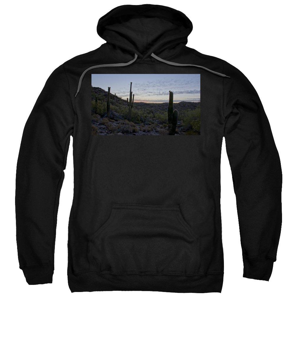 Flower Sweatshirt featuring the photograph South Mountain Sunrise by Brian Kamprath
