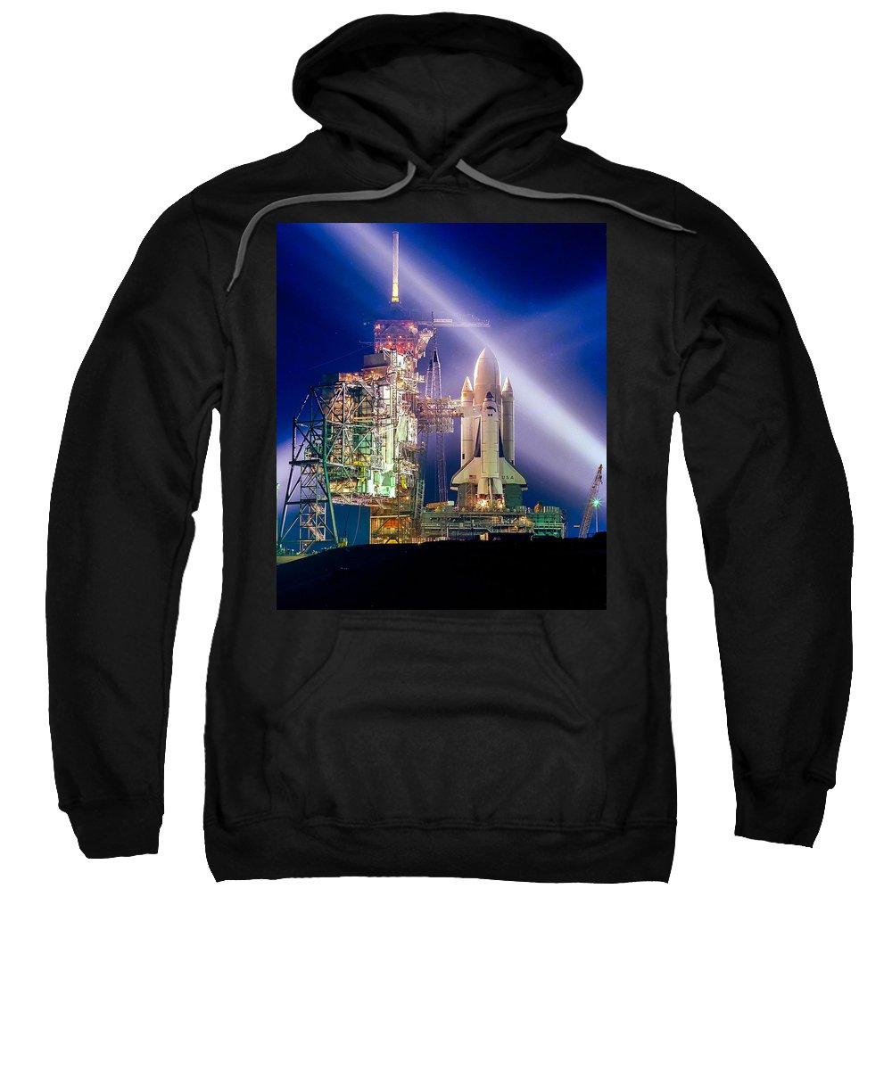 Space Shuttle Sweatshirt featuring the photograph Space Shuttle Columbia by Chad Rowe