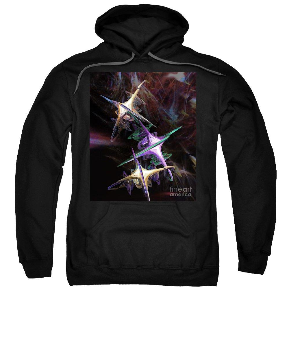 3d Sweatshirt featuring the digital art Space Station Alpha by Brian Raggatt
