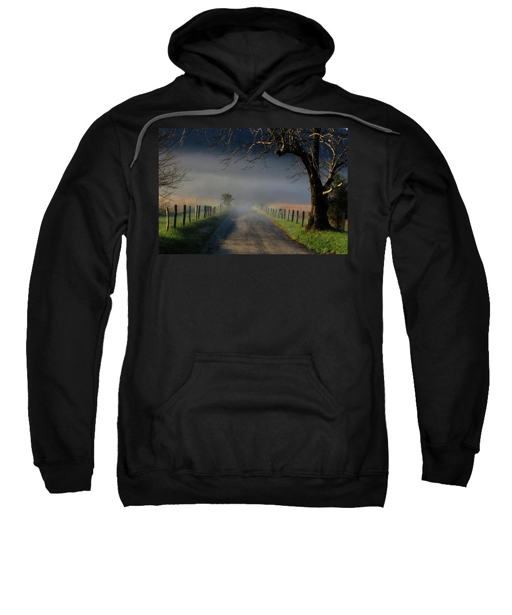 Lane Sweatshirt featuring the photograph Sparks Lane Sunrise II by Douglas Stucky