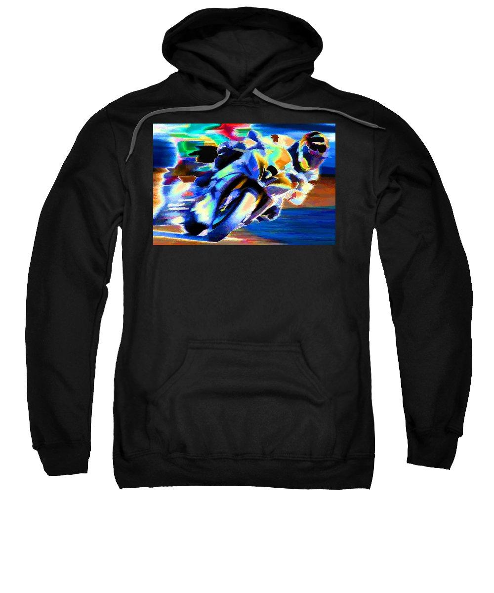 Sports Sweatshirt featuring the photograph Speed by Agustin Uzarraga