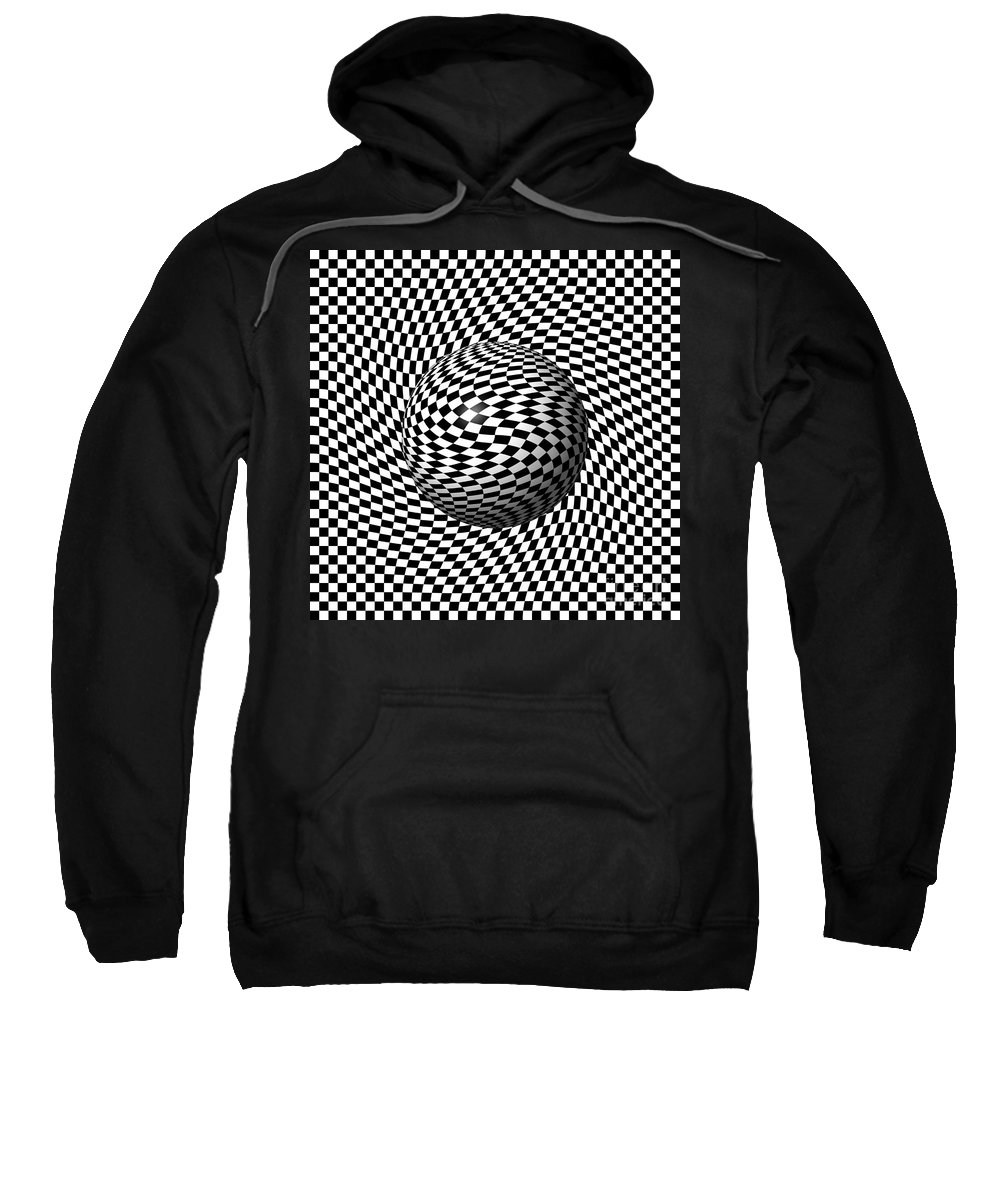 Pinch Sweatshirt featuring the digital art Sphere Abstract Pinch by Henrik Lehnerer