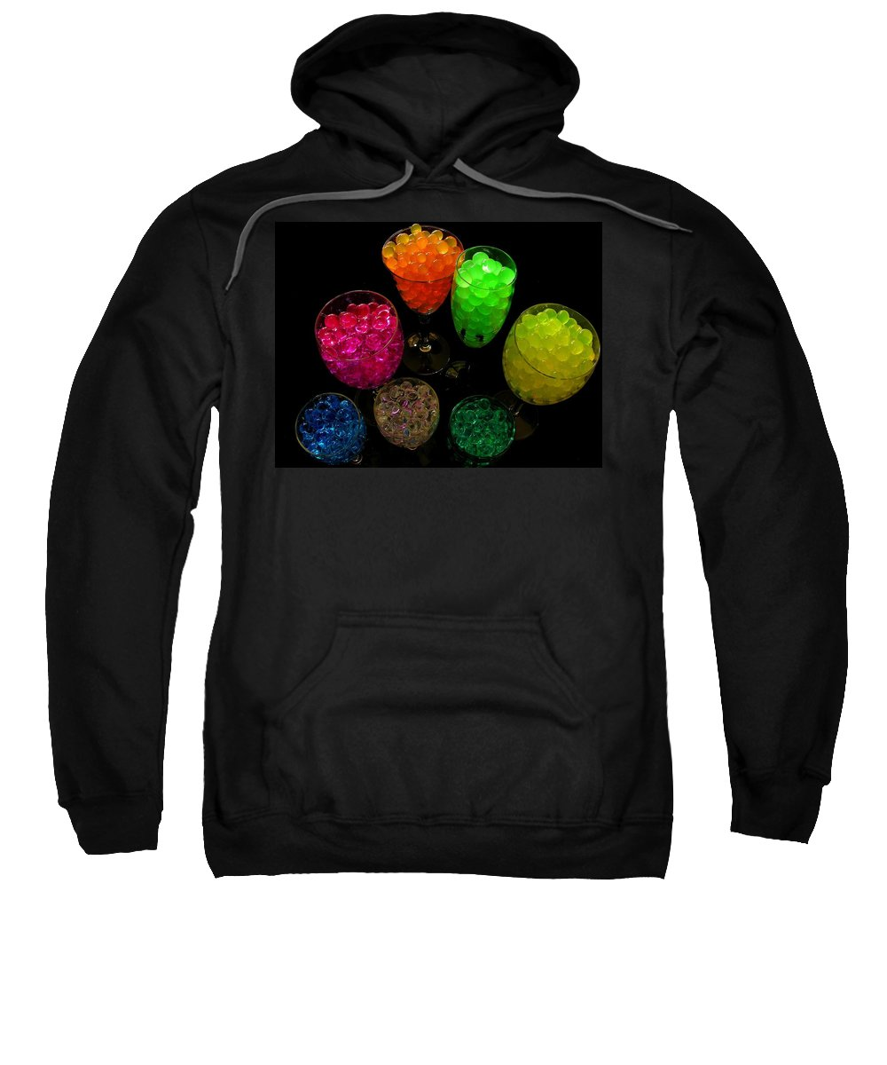 Polymer Gel Sweatshirt featuring the photograph Spherical Polymer Gel 2 by Ru Tover